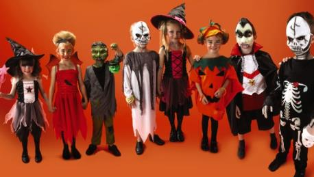 Halloween, défilés des enfants