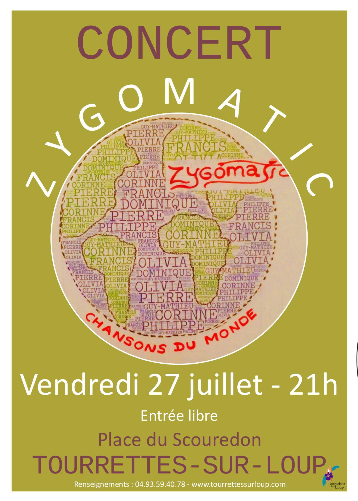 Concert avec le groupe ZYGOMATIC