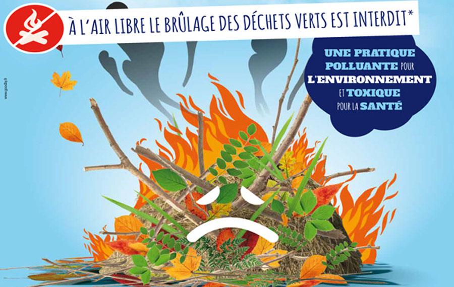 Ne brûlons plus nos déchets verts à l'air libre