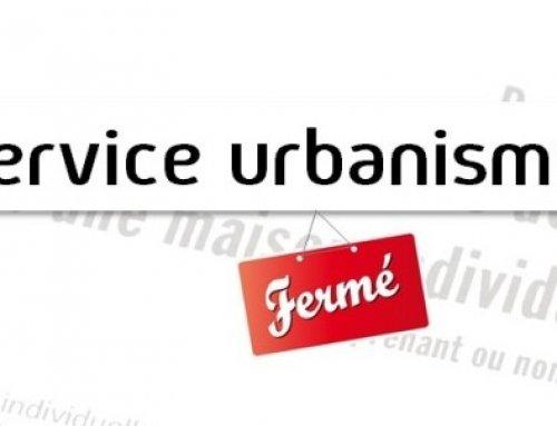 Fermeture exceptionnelle du service de l'Urbanisme