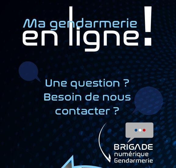 Nouveau ! Contacter en ligne la Gendarmerie Nationale