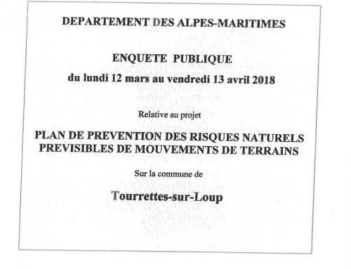 PPR Mouvements de terrain – Rapport du commissaire enquêteur