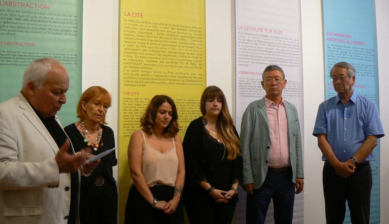 Expo Seund Ja Rhee , une œuvre forte et sereine au château