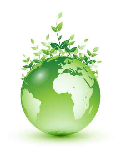 Planète terre à feuilles