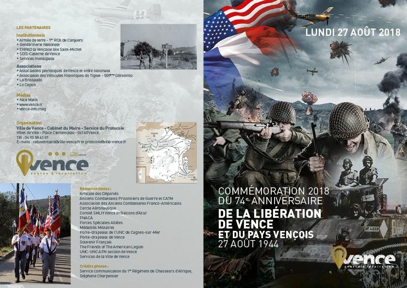 Commémoration 2018 de la Libération du Pays Vençois.