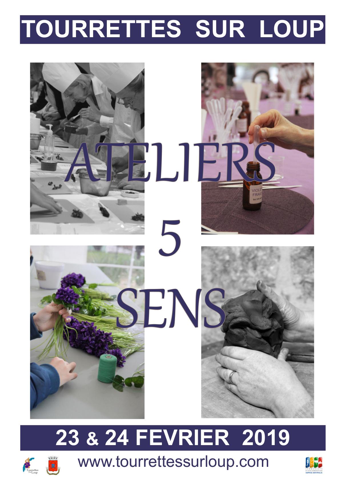Affiche Ateliers 5 Sens Ok