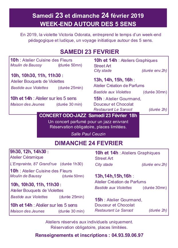 Programme Atelier Cinq Sens 2019 Ok