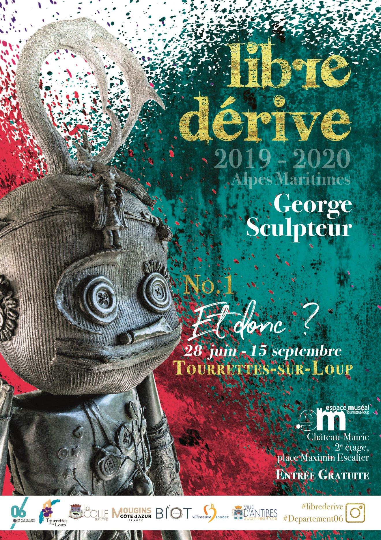 Affiche Expo Libre Dérive