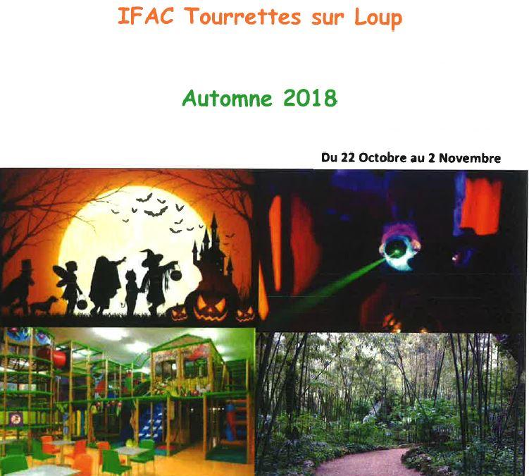 Activités Ifac - vacances de la Toussaint