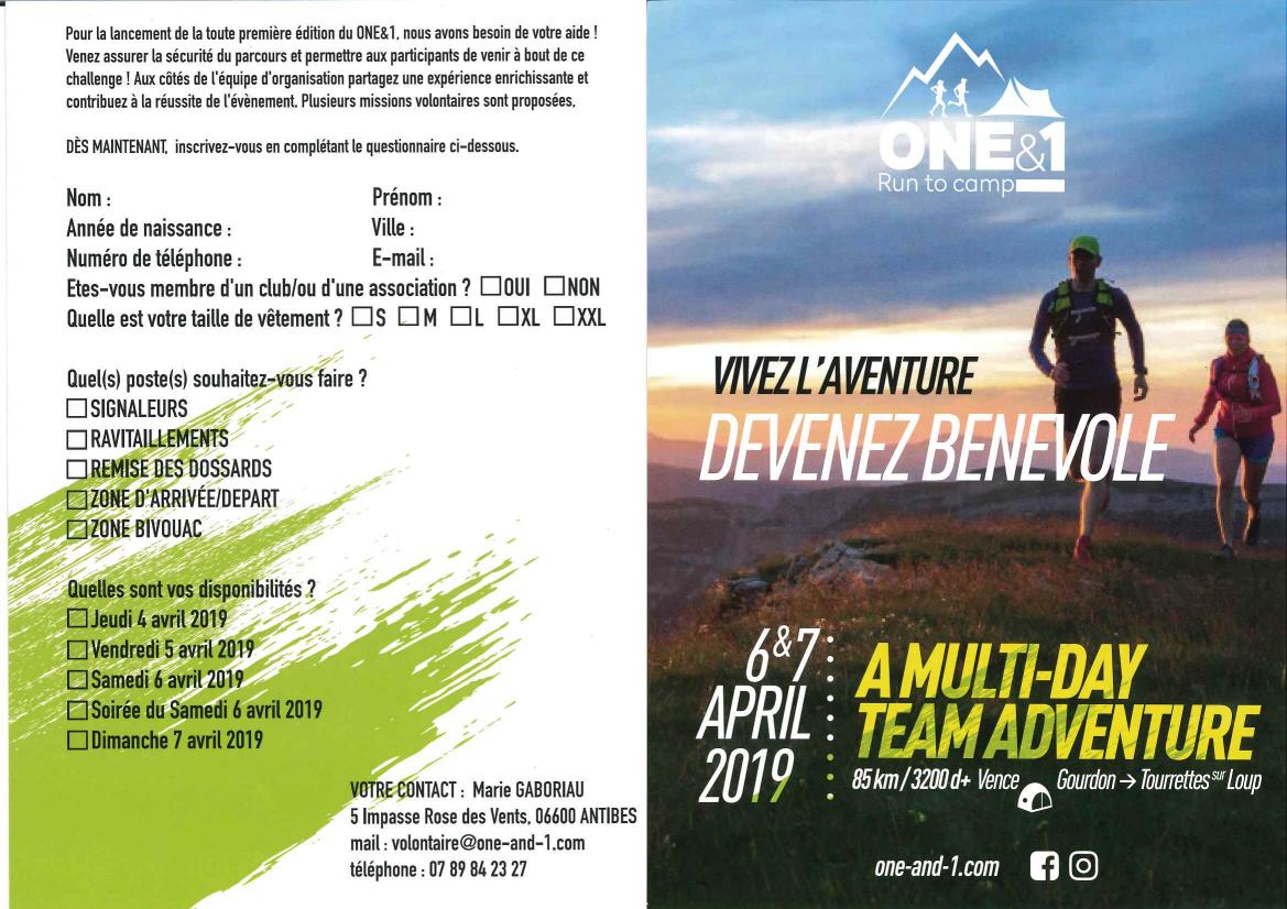 Devenir bénévole - ONE&1 RunToCamp