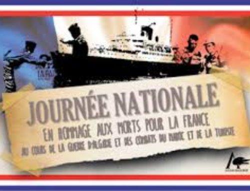 Journée nationale d'hommage aux combattants «Morts pour la France» en A.F.N.