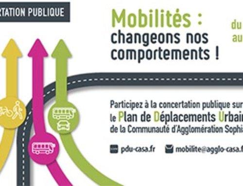 Concertation publique : Révision du Plan de Déplacements Urbains