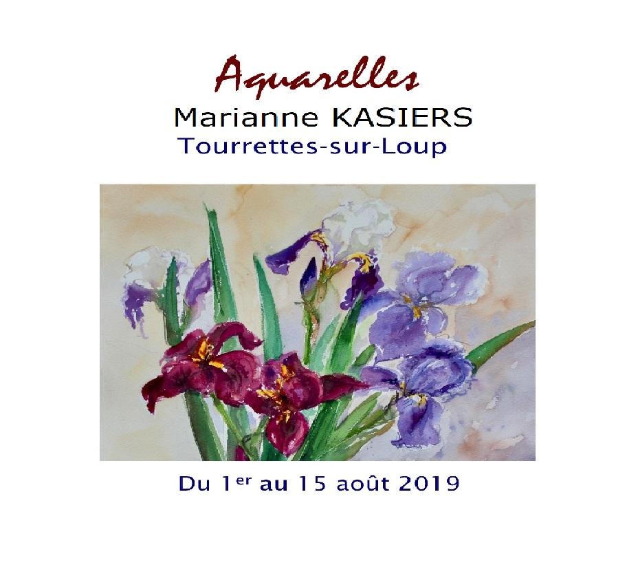 EXPO Aquarelles de Marianne Kasiers