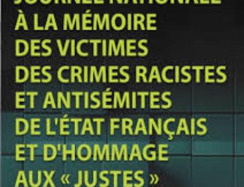 Hommage aux Justes de France le 21 juillet : pavoisement des édifices publics
