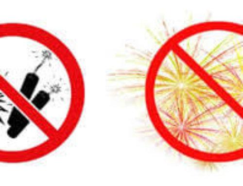 Pétards et feux d'artifice interdits du 09 au 15 juillet