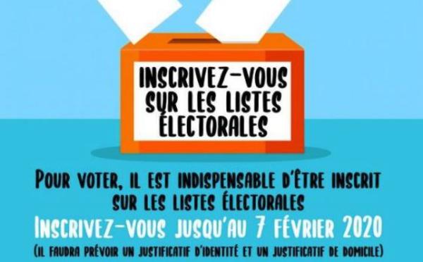 Listes électorales : inscrivez-vous !