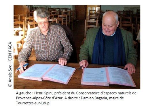 Signature d'une convention entre la commune et le CEN PACA pour les Lauves