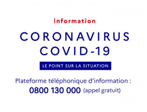 COMMUNIQUÉ DU MAIRE Informations Coronavirus COVID-19