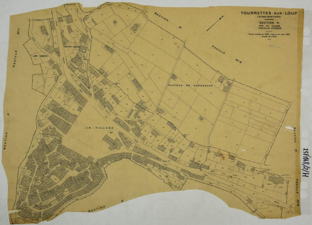 TOURRETTES Section H Le Village 1953