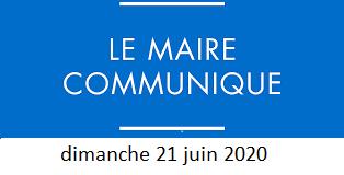 [LE MOT DU MAIRE] dimanche 21 juin 2020