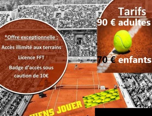 Tourrettes Tennis Club – informations estivales