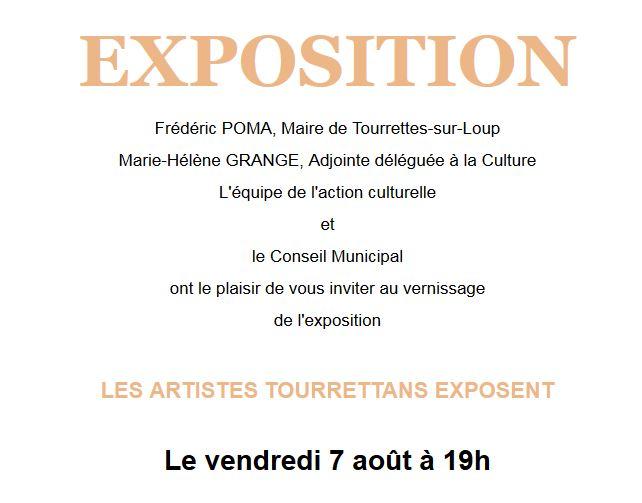 "Invitation - Vernissage ""Les artistes tourrettans exposent"""