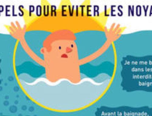 Campagne prévention des noyades et risques liés à la baignade
