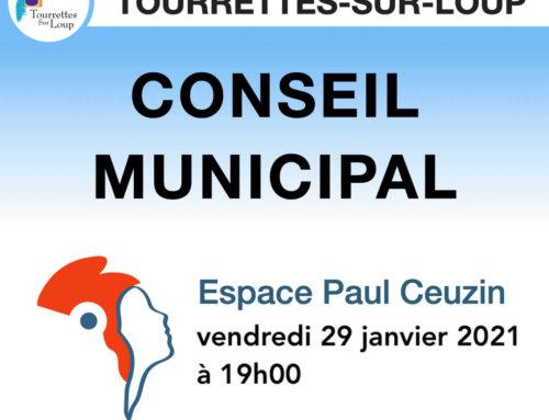 Conseil municipal du 29 janvier 2021