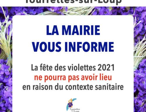 La fête des violettes édition 2021 ne pourra pas avoir lieu