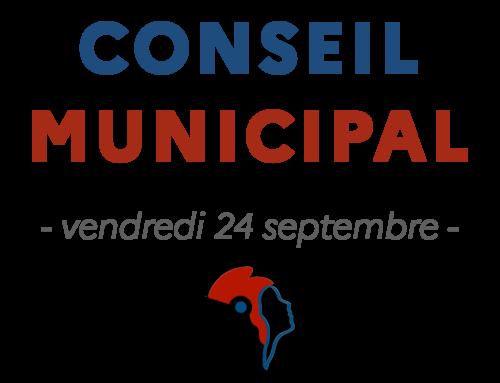Conseil municipal du vendredi 24 septembre 2021
