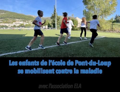 Les enfants de l'école de Pont-du-Loup se mobilisent contre la maladie !